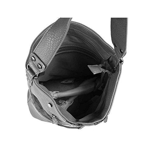 OBC DAMEN TASCHE SHOPPER METALLIC Henkeltasche Handtasche Schultertasche Umhängetasche Hobo-Bag Rose Dunkelblau 35x29x13 cm