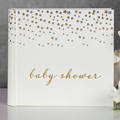 Bambino Baby Dusche Foto Album-mit Silber & Gold Star Design