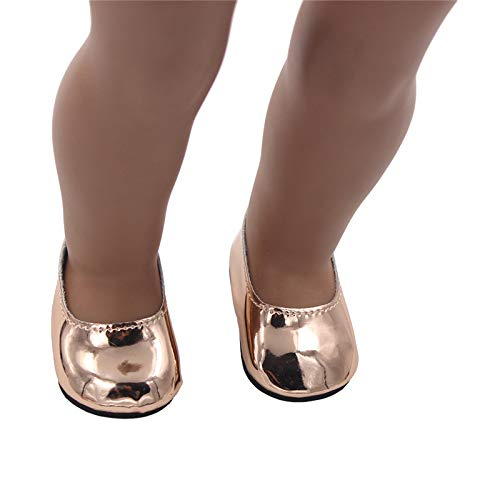 FairOnly Puppenschuhe passend für American Girl 34CM Puppe Champagne gold American Champagne