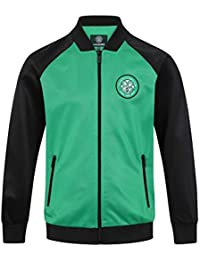 1117d02fb743a Celtic FC Official Football Gift Boys Retro Track Top Jacket Green