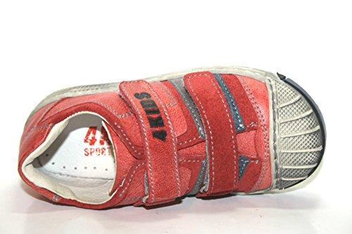 4Kids by Cherie 224 Kinder Schuhe Jungen Halbschuhe Rot