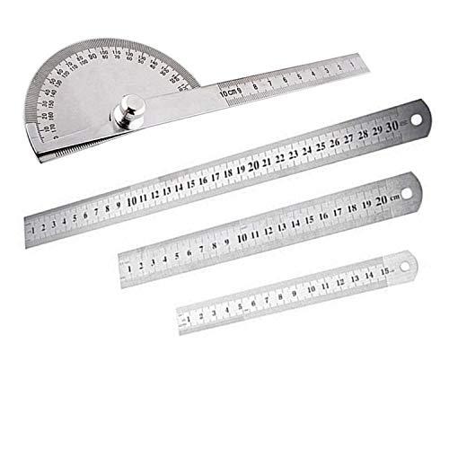 PPX 3pcs Règle en Acier Inoxydable Stainless Steel Ruler...