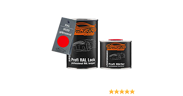 2 K Car Paint Ral 3020 Traffic Shiny Red 1 5 Litres 1500 Ml Tin Including Hardener Auto