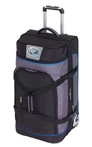 Vertrieb durch Preiswert & Gut Trolley Reisetasche Riesen Tasche 125 Liter Blau mit 2 Rollen und Dehnfalte 85 x 40 x 40cm nur 4,5kg