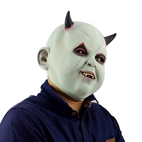 Clown Party Kostüm Stadt - Gruselige Maske for Männer - Halloween Maske - Cosplay Kostüm Maske - Party Rave Maske - Erwachsene Und Kinder (Color : D)