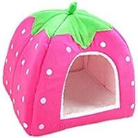 Xuxuou 1 Pieza Casas para Mascotas Interior para Perros Cama Mascota para Sofa Mantener el Calor en Invierno size 36 * 36 * 38cm (Rosa L)