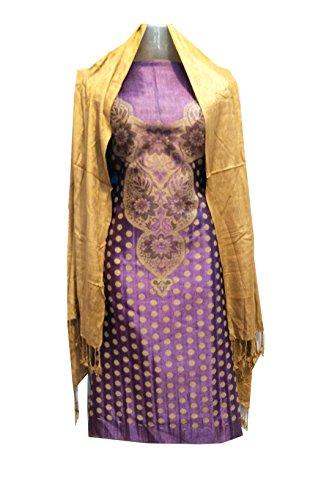 C&S Un-stitched Printed Designer Wear Salwar Suit Dress Material with (Stole) Dupatta