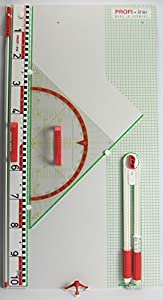 WISSNER® 165101.000 - Juego de Herramientas para Pizarra de Pared (60 cm), Color Blanco