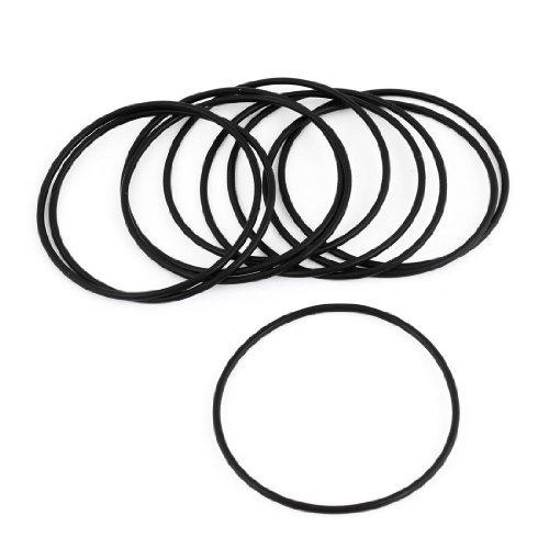Preisvergleich Produktbild 10PCS Schwarz Gummi 55mm x 2mm Oil Seal O Rings Dichtungsband Dichtringe Waschmaschine
