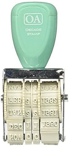 Oktober Afternoon Gummi Daily Flash Jahrzehnt Roller stamp-1980's