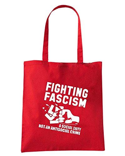 T-Shirtshock - Borsa Shopping TCO0024 antifascism Rosso