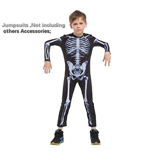 Kostüme Karneval Halloween Skelett Kostüme für Kinder Jungen Jungen Kinder Mädchen Kind Kinder Party Anime Party Kostüm Dämon@B0126_XL (Dämon Kostüm Kind)