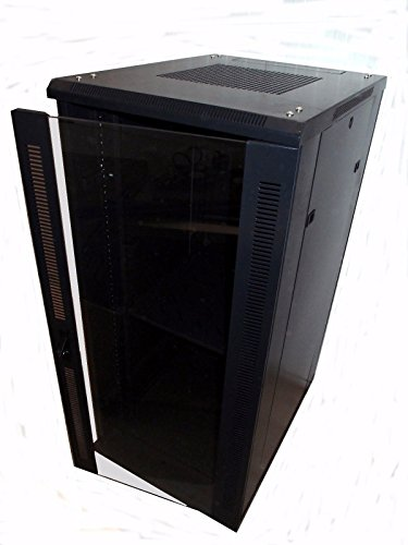 Cheapest Price for 19Power 18U 19 inch Wall Mount Server Rack Cabinet with Tempered Glass Door – Black Review