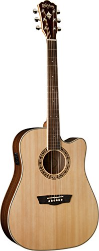 Washburn WD10SCE - Guitarra electroacústica, color natural
