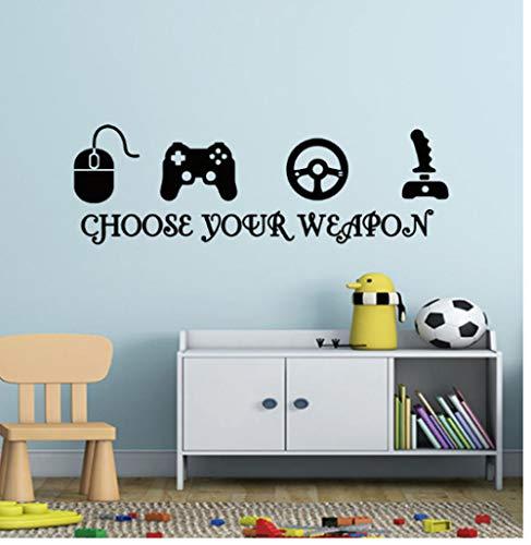Gamer Vinyl Wall Stickers ps4 Videogioco Playroom Joystick Stickers murali Camera da letto Gioco Zone Decor Aer Murale Decalcomania Ragazzi Regali 57x36 cm