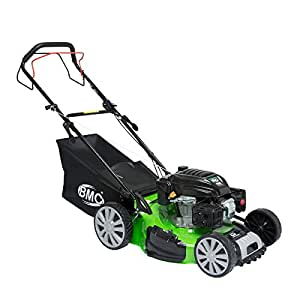 """BMC Lawn Racer Self Propelled 20"""" Wolf Engine Petrol Powered Lawn Mower with 50L Grass Collection Bag, 5.32HP Engine, 4 in 1 Facility Cut, Cut & Collect, Mulch, Side Discharge - 2 YEAR WARRANTY"""