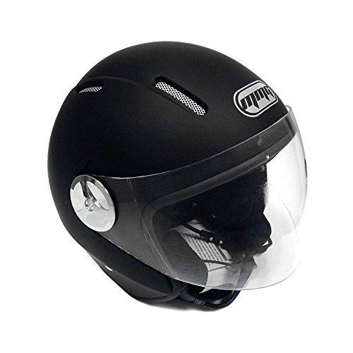 Moto Pilot Open Face casco lunares-Acabado Mate