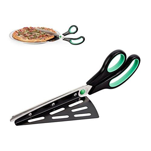 Relaxdays Pizzaschere mit Pizzaheber, Edelstahl Küchenschere, spülmaschinenfester...