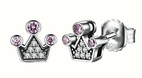 saysure-925-sterling-silver-queen-crown-stud-earrings