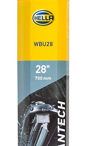 HELLA 9XW 358 053-281 Wischblatt Scheibenwischer WBU 28, PKW, Flachbalkenwischblatt gelenklos, Linkslenker, vorne, nano Gummilippe, EasyChange, robust und aerodynamisch, 700 mm, 28'', mit Multiadapter