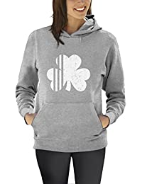 Saint Patrick's Day Irish Shamrock Four-Leaf Clover Women Hoodie