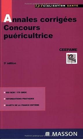 Annales corrigées Concours puéricultrice: QCM et QROC