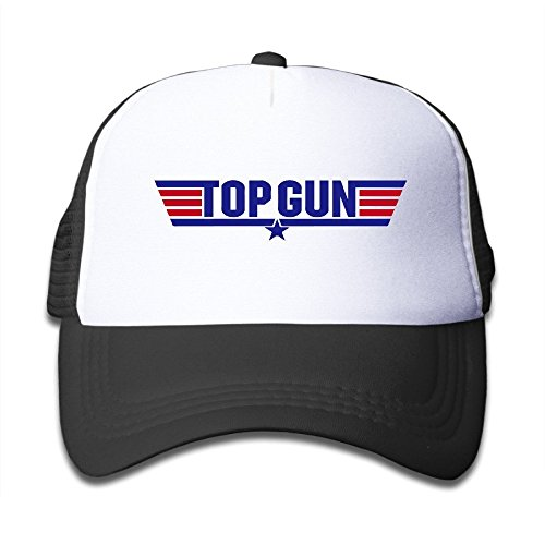 Top Gun Logo Boy's Mesh Snapback Hat Cap Black