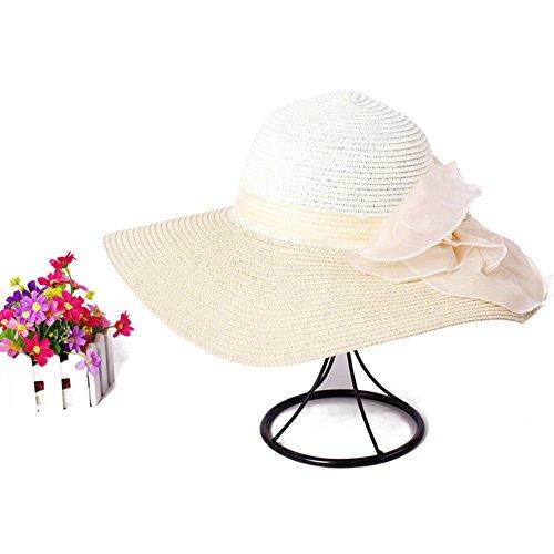 Chapeau coréen fleur/Chapeau outdoor/Holiday Beach Hat/Grand chapeau de soleil E