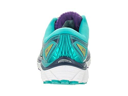 Brooks Glycerin 14, Chaussures de Course Femme, Aubergine Pansy/Ceramic/LimePunch
