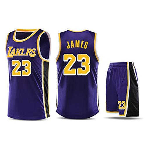 Herren Basketball Trikot Los Angeles Lakers # 23 Lebron James Weiß/Schwarz/Gelb-Dreifache Meisterschaft Limited Edition Genähter Schriftzug und elastischer Nacken.-3-L -