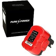 PURE⚡POWER® Batería del herramienta eléctrica para Bosch PSB 14.4 V-i (14.4V, 3000 mAh, Ni-MH, rojo)