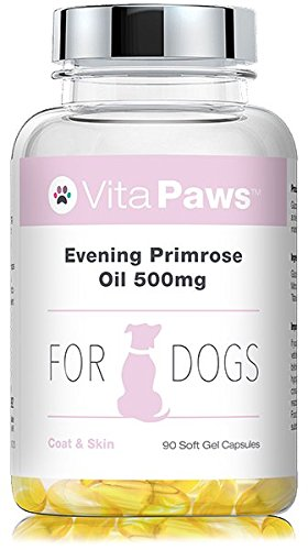 VitaPaws™ Nachtkerzenöl für Hunde - 90 Streukapseln - reichhaltig an Omega 6 Fettsäuren, wie Gamma-Linolensäure (GLA) (Öl Gels 90)