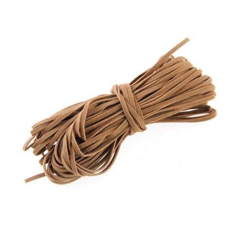 Ndier cordón Correa cordón de Cuero marrón 2mm/18mt DIY