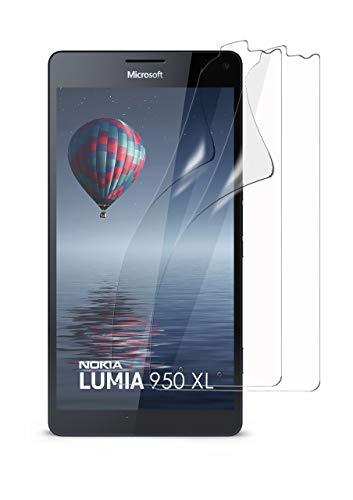 moex 2X Microsoft Lumia 950 XL | Schutzfolie Klar Bildschirm Schutz [Crystal-Clear] Screen Protector Display Handy-Folie Dünn Bildschirmschutz-Folie für Nokia Lumia 950 XL Bildschirmfolie