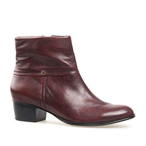 Van Dal Shoes Womens Short Boot Juliette in Port