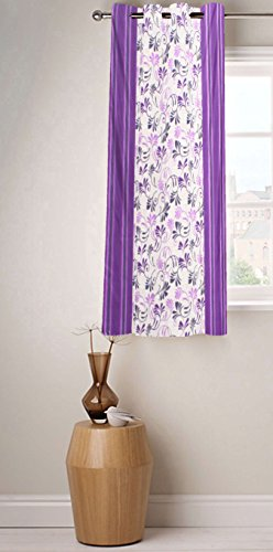 Fabutex Beautiful Printed Purple Polyester 4 x 5 Feet Designer Window Curtain Pack of 1  available at amazon for Rs.199