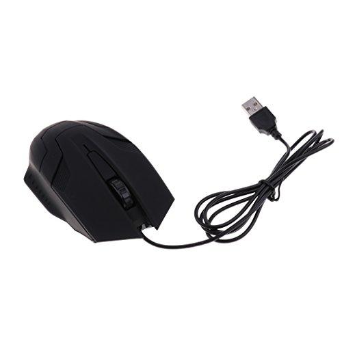 B Blesiya 1 Pieza Ráton Óptico Inalámbrico Accesorios de Video Juegos Trabaja con Computadores Portatíles