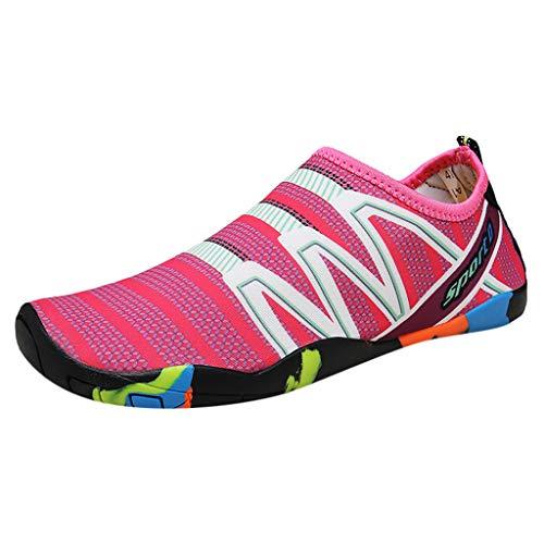 FRAUIT Damen Watschuhe Sport Tauchen Schuhe Casual Flachen Strand Schuhe Wasser Schuh Geschwindigkeit Interferenz Wasserschuhe Upstream Schuhe (Keil Damen Leinwand Neue Sandale)