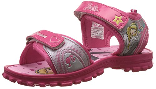 Barbie Girl's Pink and Grey Fashion Sandals - 3 UK/India (35 EU)
