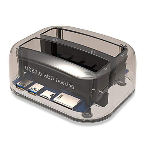 USB 3.0-zu-SATA-Dual-Bay-Festplattenlaufwerk-Dockingstation für 2,5/3,5-Zoll-HDD-SSD - Festplatte 5tb Treiber