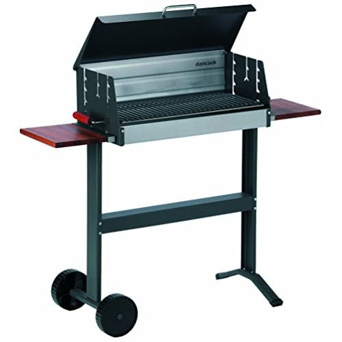 415sE7UXTtL. SS500  - Dancook 5600 - Large Barbecue Box Grill with Grill Lid, Sidetables and Wheels.