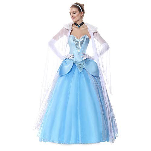 NCTM Kostüm Princess Dress Cosplay Stage Performance für Frauen Girl Blue (größe : M)