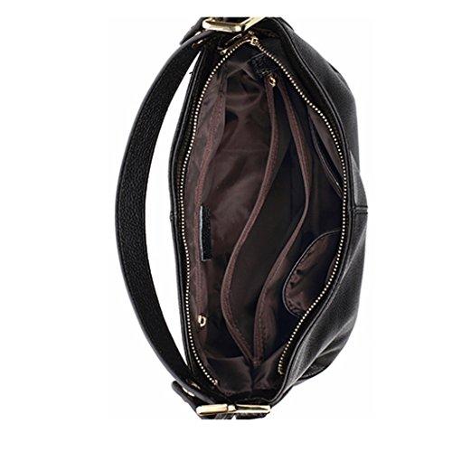 ZCJB Cross-Body Big Bag Lady Taschen Leder Schulter Messenger Bag Handtasche ( Farbe : Schwarz ) Taro