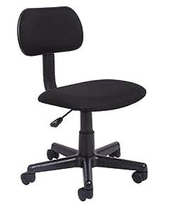 Office Essentials Height Adjustable Desk Chair   Black