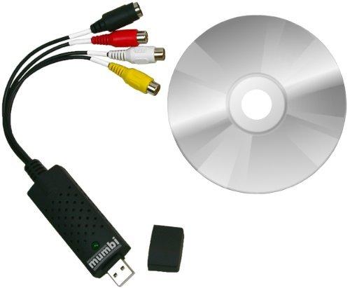 mumbi Video Grabber USB 2.0 - Audio und Videograbber USB PC Bearbeitung Videoadapter Nachbearbeitung Adapter Osd-video-recorder