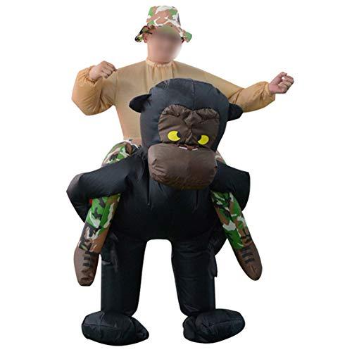 Affe Kostüm Kreative - S+S Lustige Halloween Aufblasbare Kostüme Schimpansen Zurück Menschen Kostüme Kreative Kostüme Party Requisiten Aufblasbare Kleidung Puppen