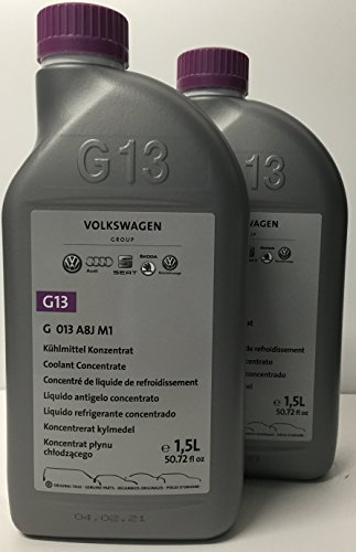 2 x antigelo / liquido di raffreddamento puro g13 originali vokswagen da 1,5 litri (quantità: 3 litri)