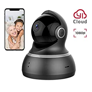 YI WiFi IP Camera 1080p for Home Security 360 Degree Surveillance with Motion Alert, Baby Crying Detection, 2-Way Audio, HD Night Vision & Remote Control APP - Cloud Storage Available (1080p Black)