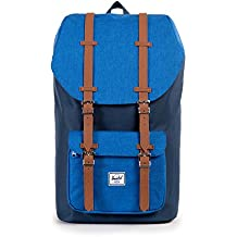 Herschel Supply Company SS16 Casual Daypack, 25 Liters, Navy/ Cobalt Crosshatch/ Tan