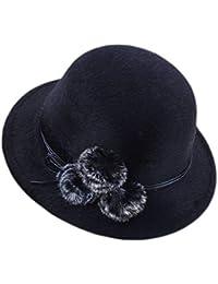 Dosige Mujer Sombrero Hongo Gorra Bombín con Visera Curvada Bowler Hat  Sombrero Boina para Cálido Gorro Tapones Hat Cap Chicas Size… a98c58deac1b6